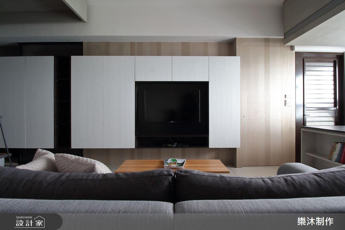 15坪新成屋(5年以下)_現代風客廳案例圖片_樂沐制作空間設計_樂沐_05之5