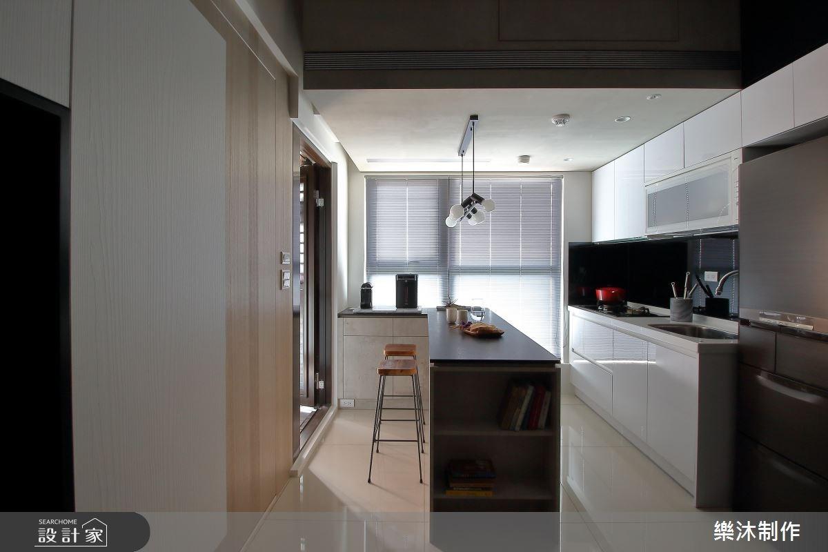 15坪新成屋(5年以下)_現代風廚房吧檯案例圖片_樂沐制作空間設計_樂沐_05之7
