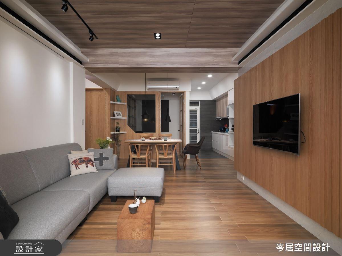 24坪老屋(16~30年)_簡約風客廳案例圖片_岑居空間設計_岑居_03之3