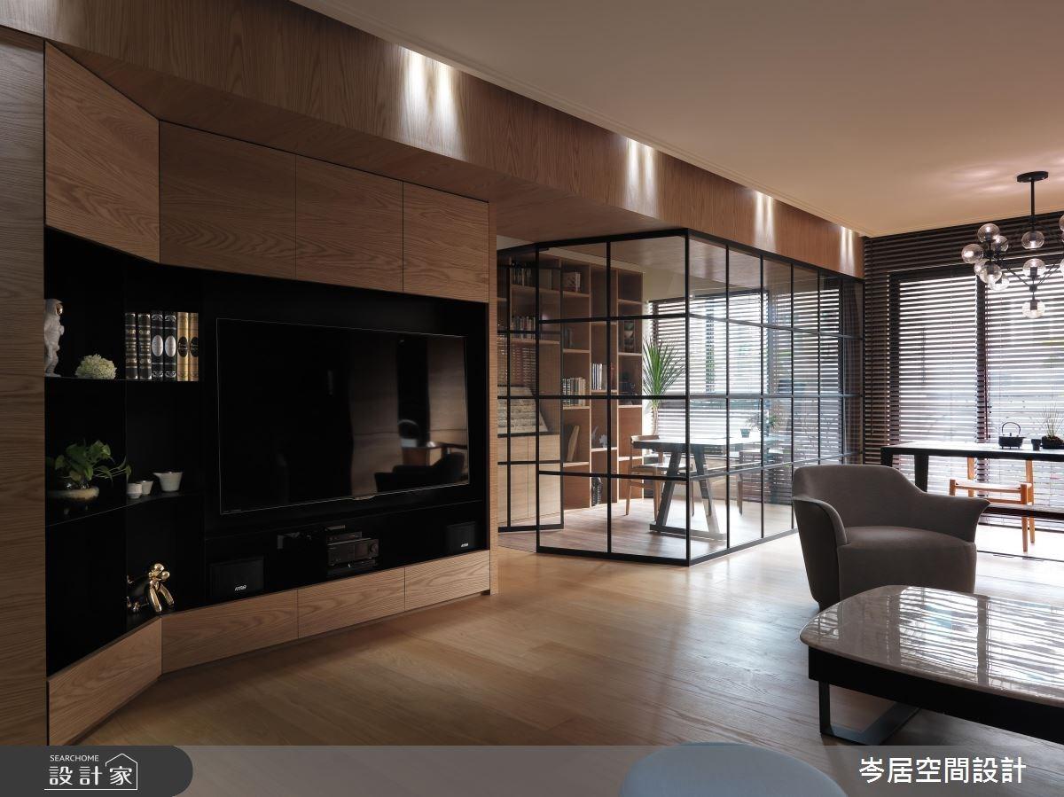 35坪新成屋(5年以下)_混搭風客廳案例圖片_岑居空間設計_岑居_05之2
