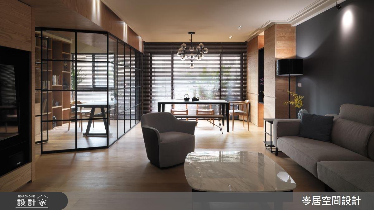 35坪新成屋(5年以下)_混搭風客廳案例圖片_岑居空間設計_岑居_05之3