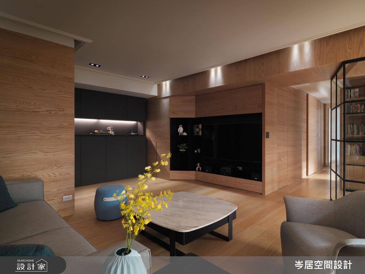 35坪新成屋(5年以下)_混搭風客廳案例圖片_岑居空間設計_岑居_05之4