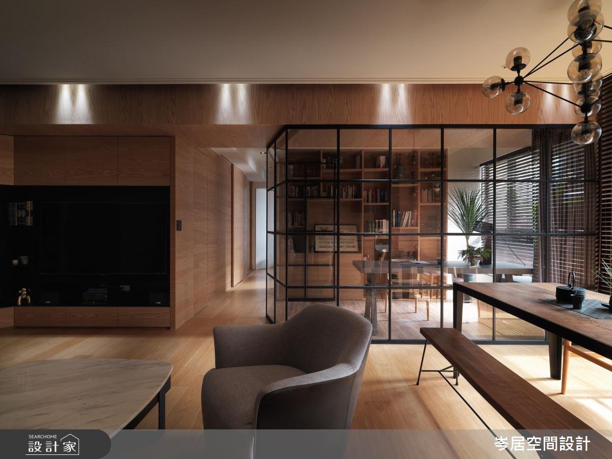35坪新成屋(5年以下)_混搭風客廳案例圖片_岑居空間設計_岑居_05之5