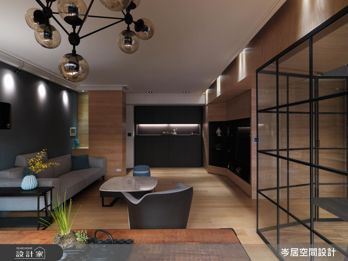 35坪新成屋(5年以下)_混搭風客廳案例圖片_岑居空間設計_岑居_05之6