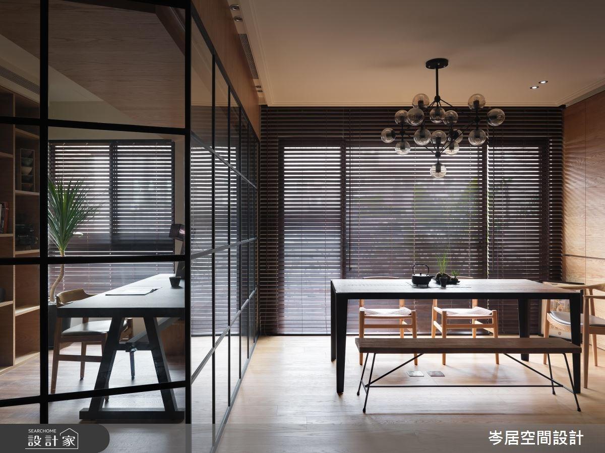 35坪新成屋(5年以下)_混搭風書房案例圖片_岑居空間設計_岑居_05之8