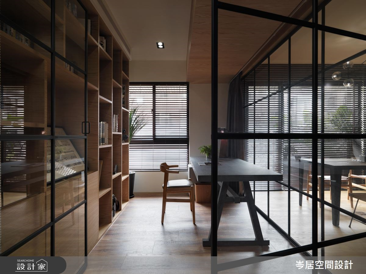 35坪新成屋(5年以下)_混搭風書房案例圖片_岑居空間設計_岑居_05之10
