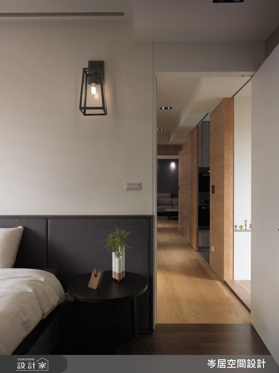 35坪新成屋(5年以下)_混搭風臥室案例圖片_岑居空間設計_岑居_05之13