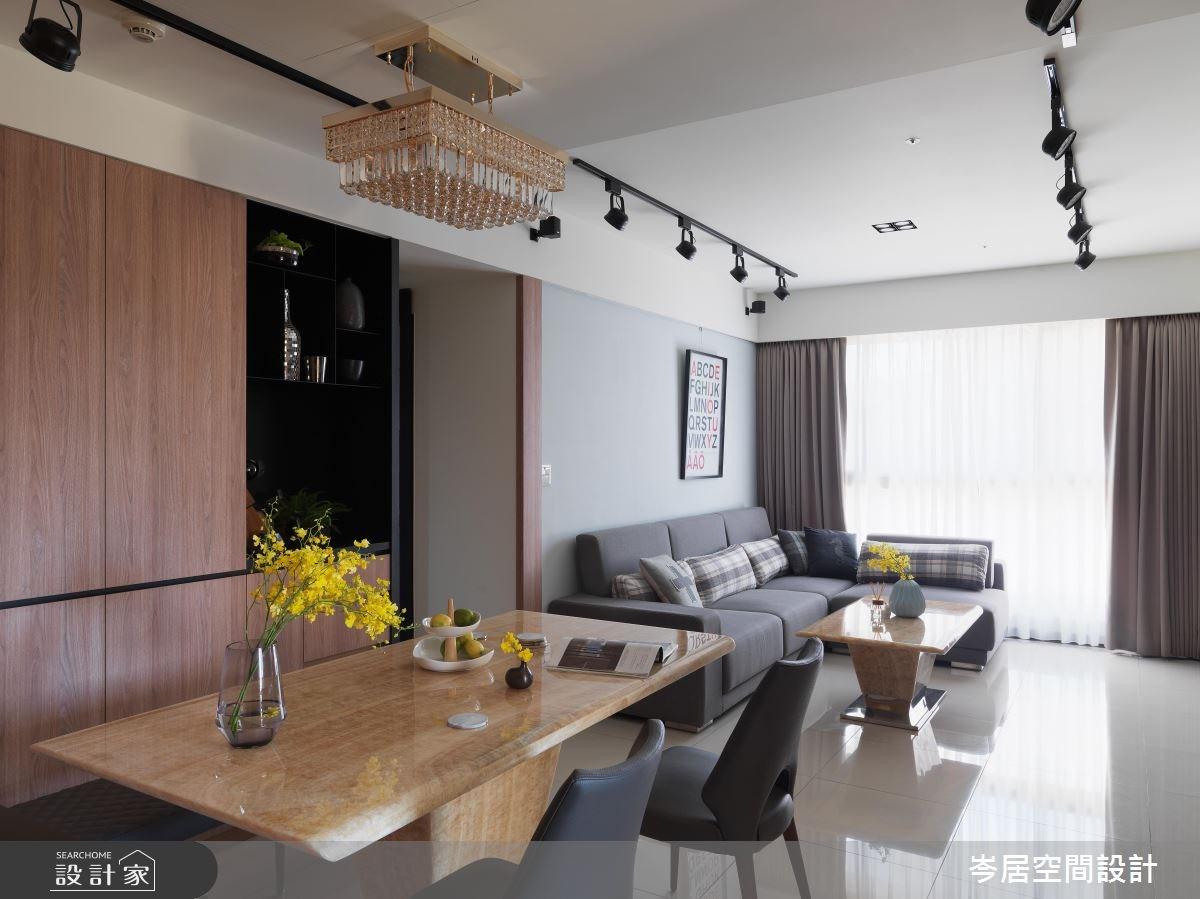 34坪新成屋(5年以下)_混搭風餐廳案例圖片_岑居空間設計_岑居_06之2
