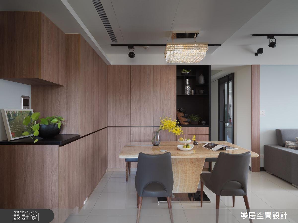 34坪新成屋(5年以下)_混搭風餐廳案例圖片_岑居空間設計_岑居_06之3
