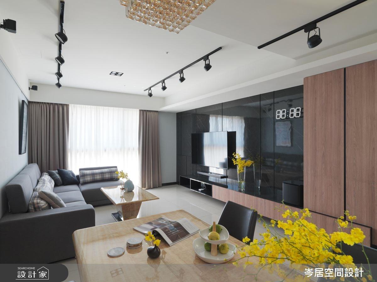 34坪新成屋(5年以下)_混搭風客廳案例圖片_岑居空間設計_岑居_06之4
