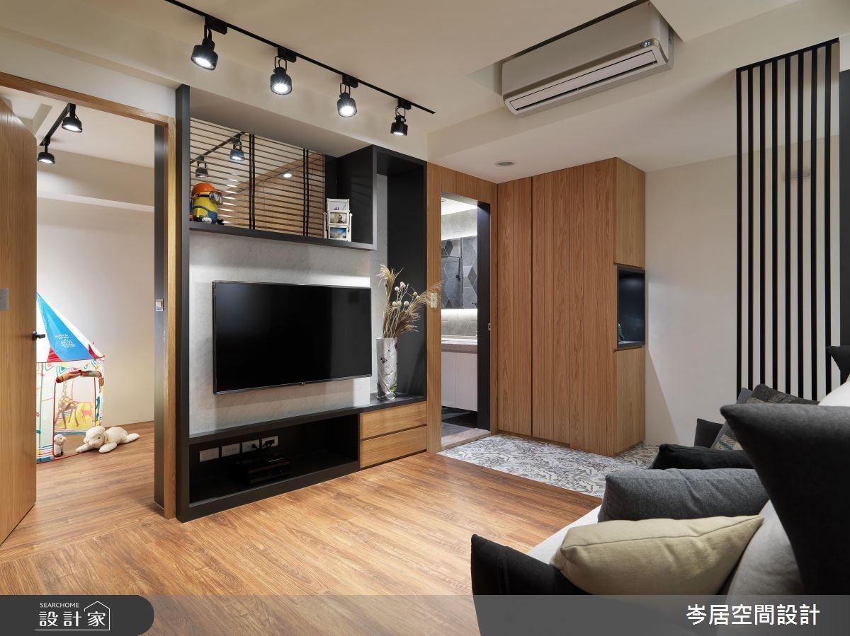 20坪預售屋_簡約風客廳案例圖片_岑居空間設計_岑居_08之4