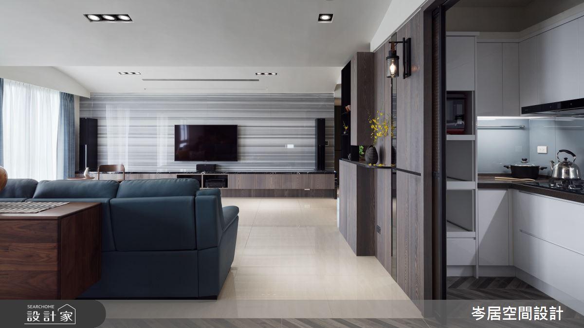 64坪中古屋(5~15年)_現代風客廳廚房案例圖片_岑居空間設計_岑居_10之4