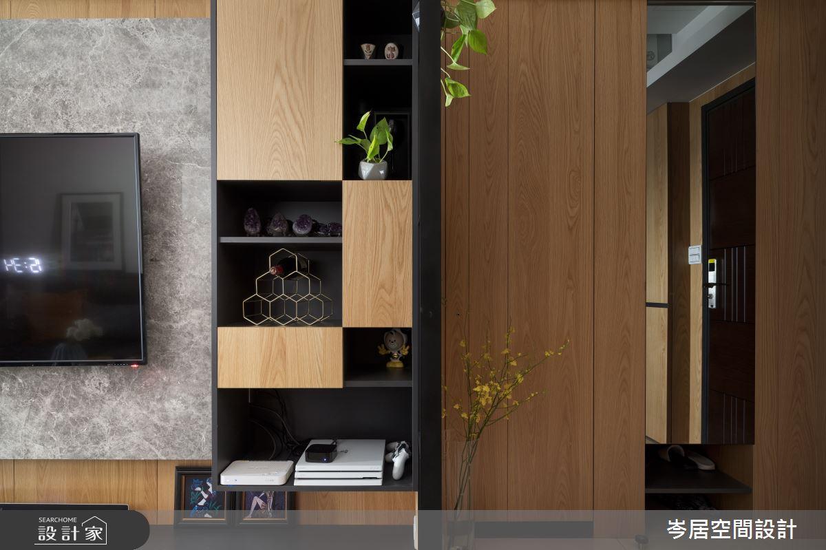 18坪新成屋(5年以下)_現代風客廳案例圖片_岑居空間設計_岑居_11之3