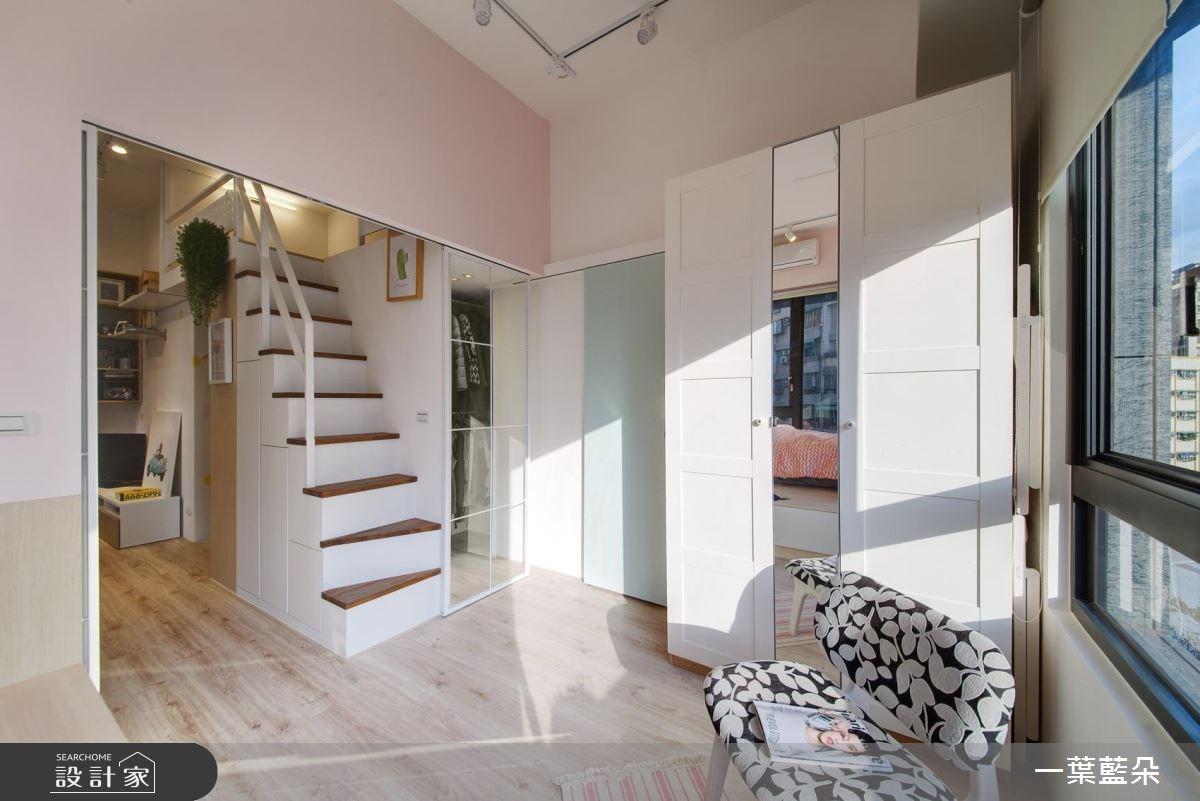 15坪新成屋(5年以下)_北歐風客廳案例圖片_一葉藍朵設計家飾所_一葉藍朵_02之5