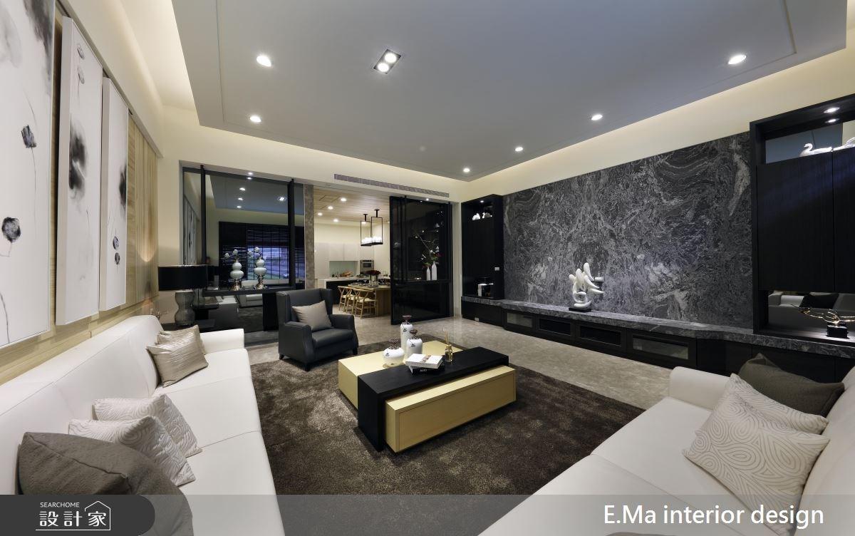 200坪新成屋(5年以下)_新中式風客廳案例圖片_艾馬室內裝修設計_艾馬_04之1