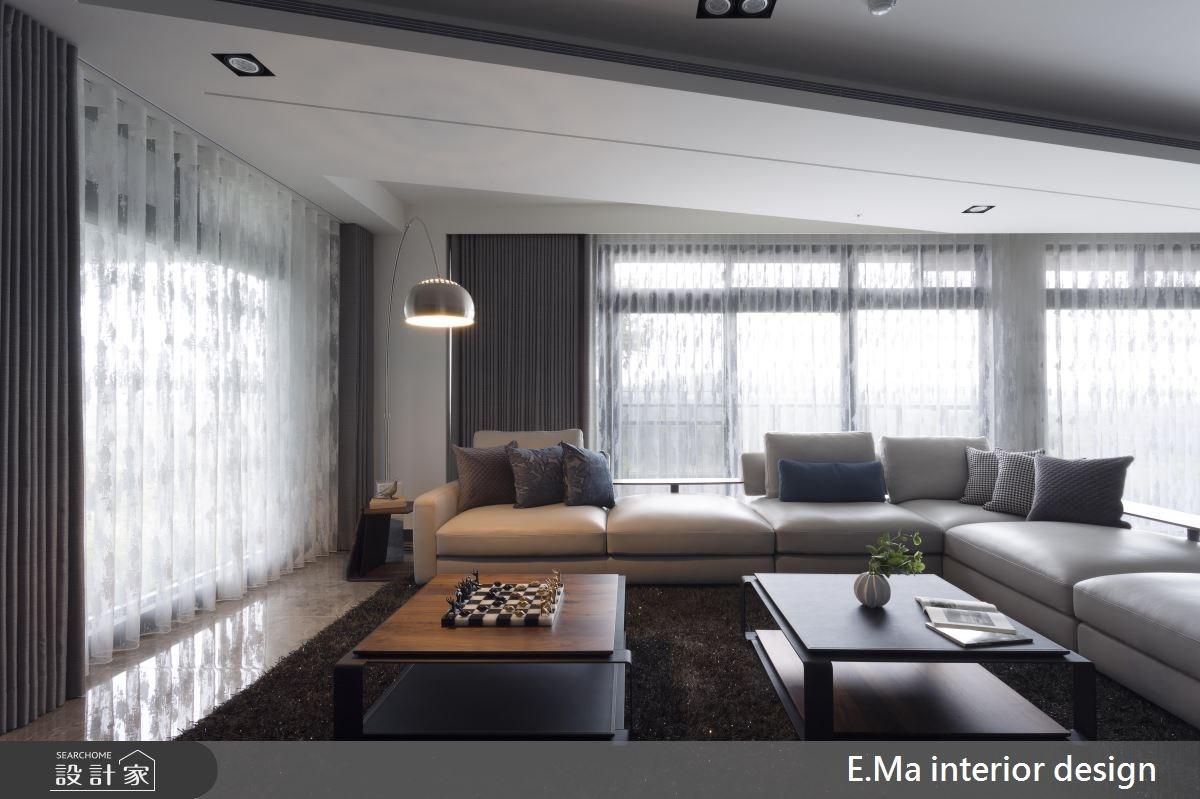 135坪新成屋(5年以下)_現代風客廳案例圖片_艾馬室內裝修設計_艾馬_11之3
