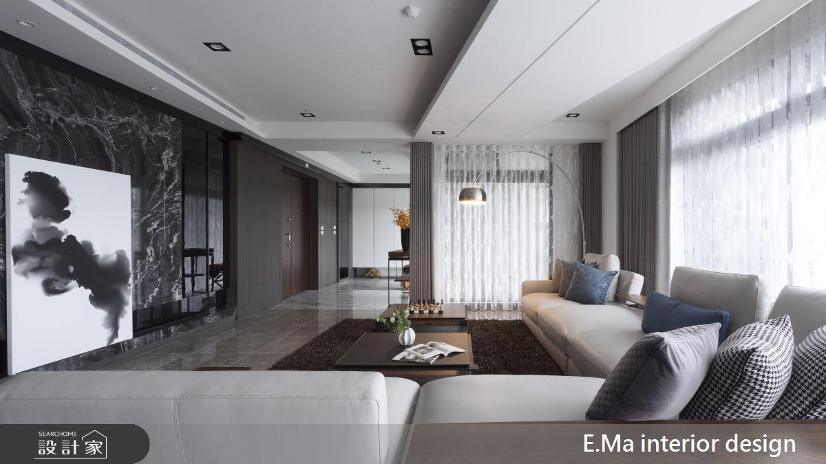 135坪新成屋(5年以下)_現代風客廳案例圖片_艾馬室內裝修設計_艾馬_11之4