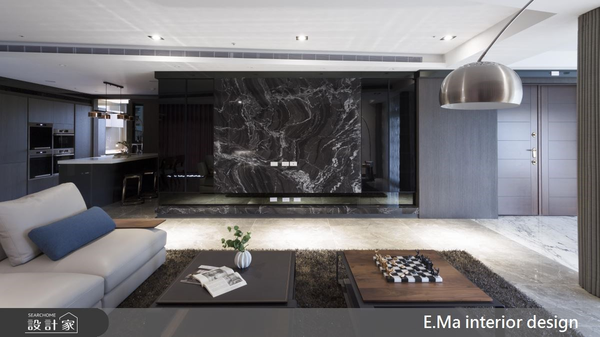 135坪新成屋(5年以下)_現代風客廳案例圖片_艾馬室內裝修設計_艾馬_11之5