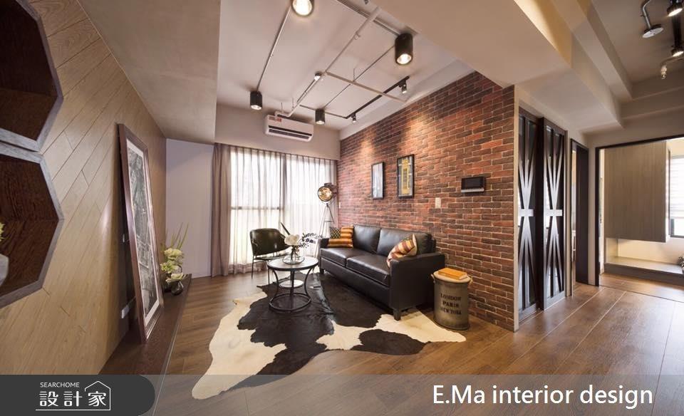 32坪新成屋(5年以下)_工業風客廳案例圖片_艾馬室內裝修設計_艾馬_01之1