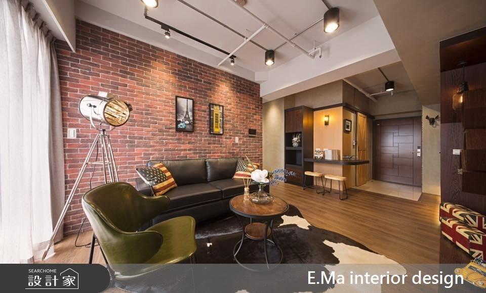 32坪新成屋(5年以下)_工業風客廳案例圖片_艾馬室內裝修設計_艾馬_01之3