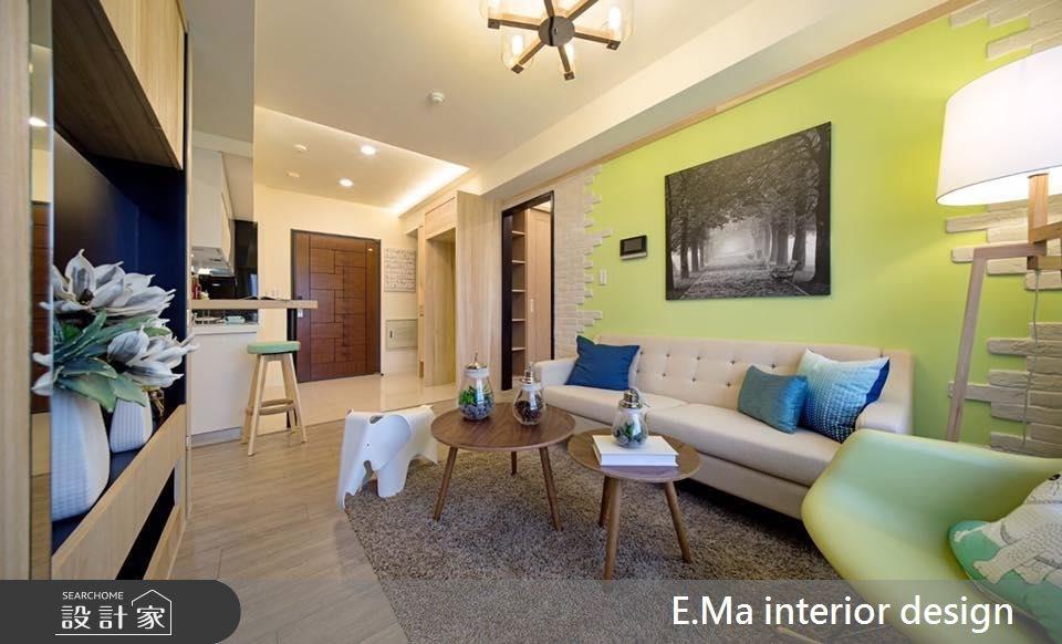 21坪新成屋(5年以下)_北歐風客廳案例圖片_艾馬室內裝修設計_艾馬_02之1