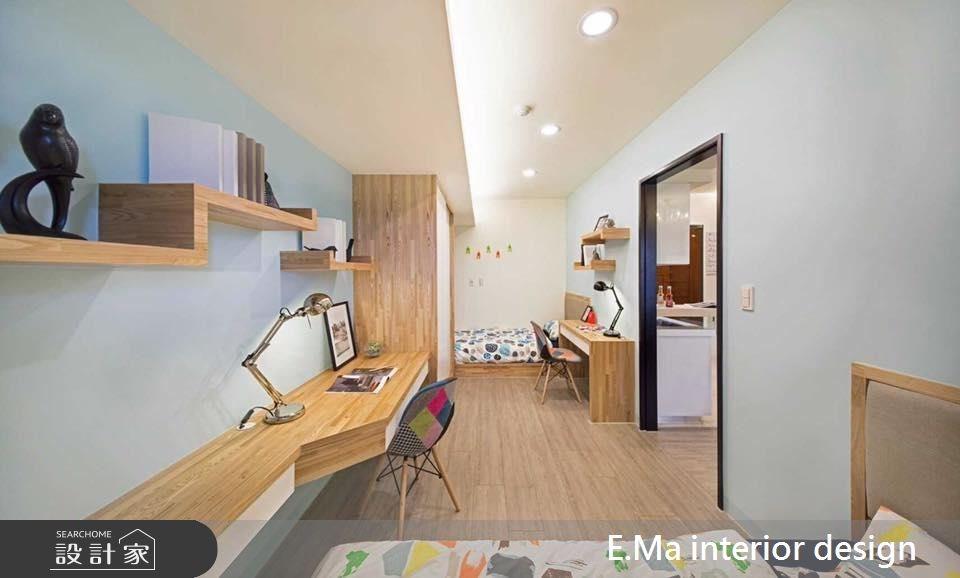 21坪新成屋(5年以下)_北歐風臥室案例圖片_艾馬室內裝修設計_艾馬_02之4