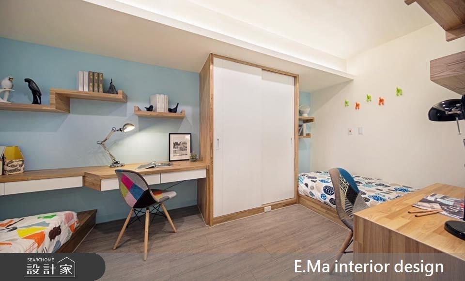 21坪新成屋(5年以下)_北歐風臥室案例圖片_艾馬室內裝修設計_艾馬_02之5