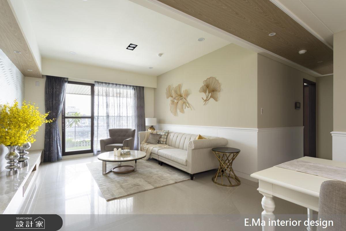 31坪新成屋(5年以下)_新古典客廳案例圖片_艾馬室內裝修設計_艾馬_12之2