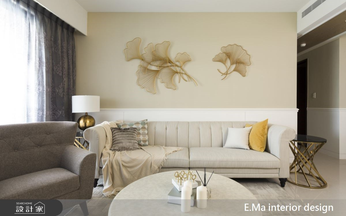 31坪新成屋(5年以下)_新古典客廳案例圖片_艾馬室內裝修設計_艾馬_12之4
