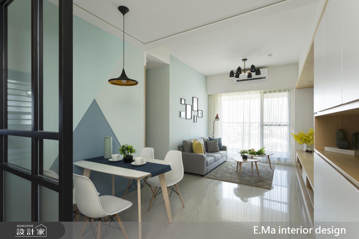 藍色巧妙混搭,打造 20 坪 3 房 2 廳輕簡北歐風!