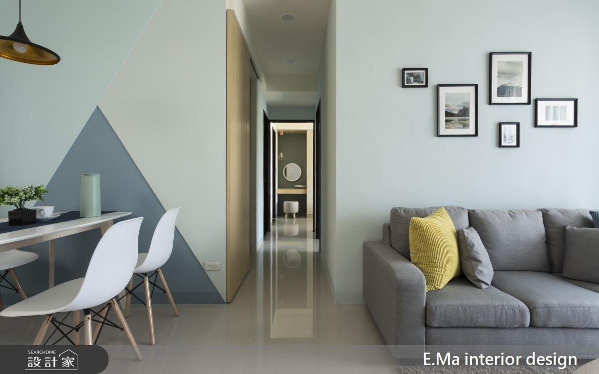 20坪新成屋(5年以下)_北歐風客廳餐廳走廊案例圖片_艾馬室內裝修設計_艾馬_13之3