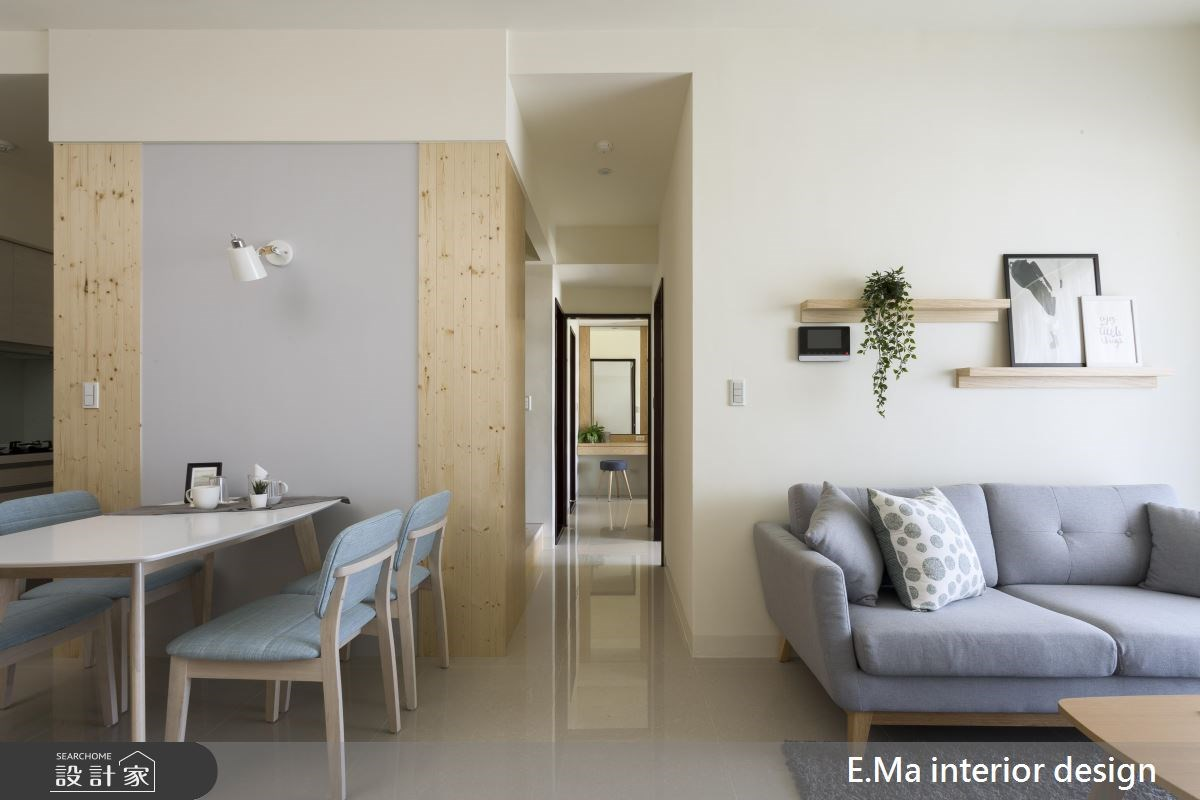 20坪新成屋(5年以下)_人文禪風客廳餐廳走廊案例圖片_艾馬室內裝修設計_艾馬_14之2