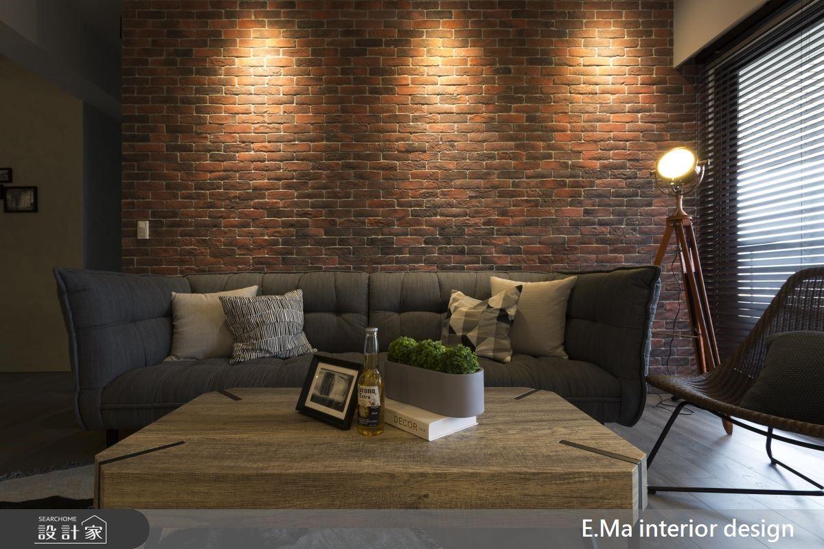 48坪新成屋(5年以下)_工業風客廳案例圖片_艾馬室內裝修設計_艾馬_16之4