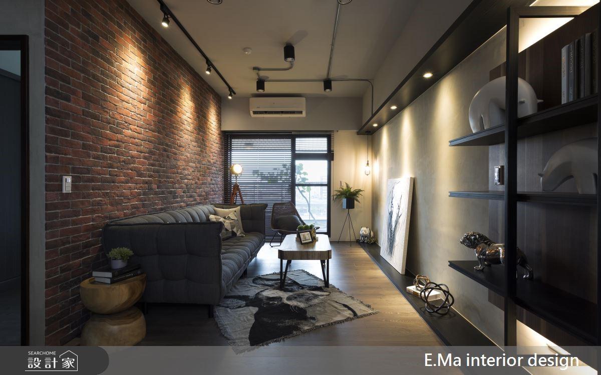 48坪新成屋(5年以下)_工業風客廳案例圖片_艾馬室內裝修設計_艾馬_16之1