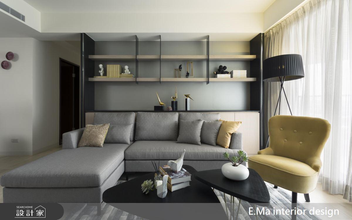 48坪新成屋(5年以下)_現代風客廳案例圖片_艾馬室內裝修設計_艾馬_17之4