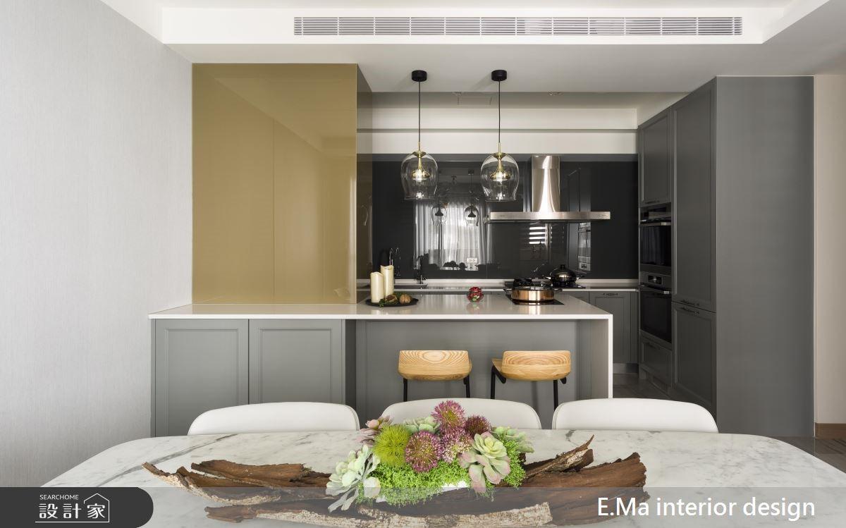100坪新成屋(5年以下)_奢華風廚房吧檯案例圖片_艾馬室內裝修設計_艾馬_19之5