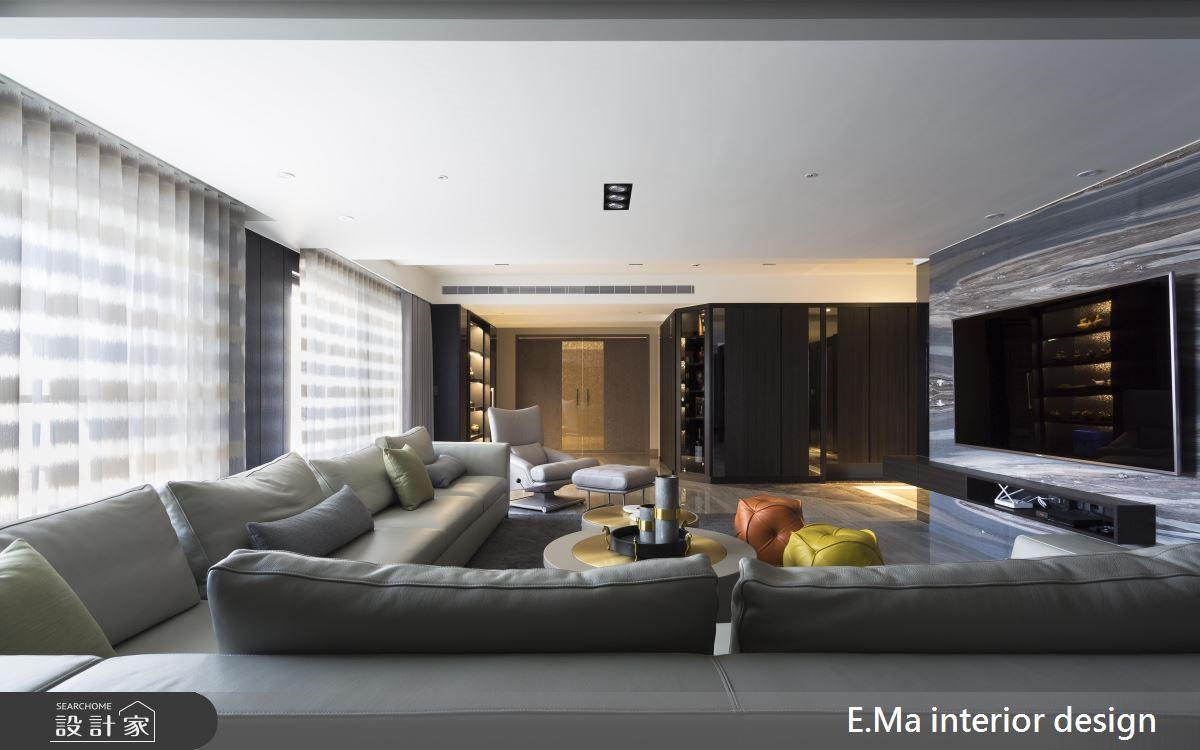 100坪新成屋(5年以下)_奢華風客廳案例圖片_艾馬室內裝修設計_艾馬_19之3