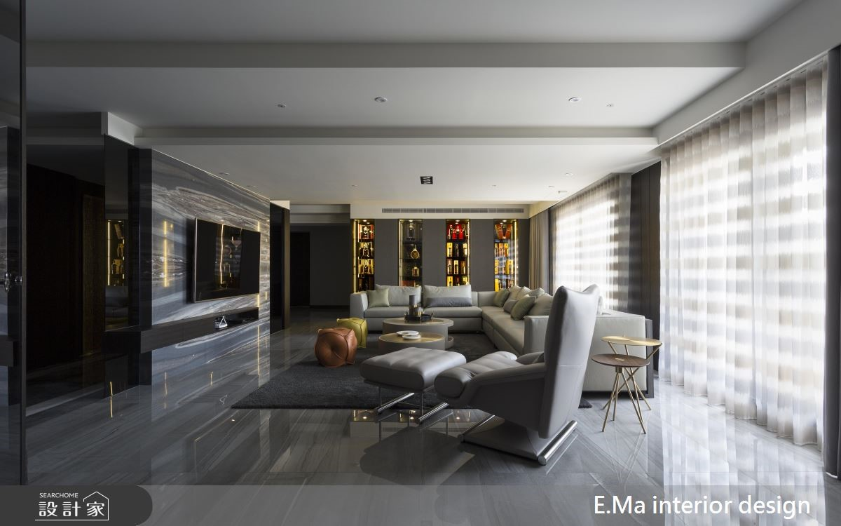 100坪新成屋(5年以下)_奢華風客廳案例圖片_艾馬室內裝修設計_艾馬_19之2