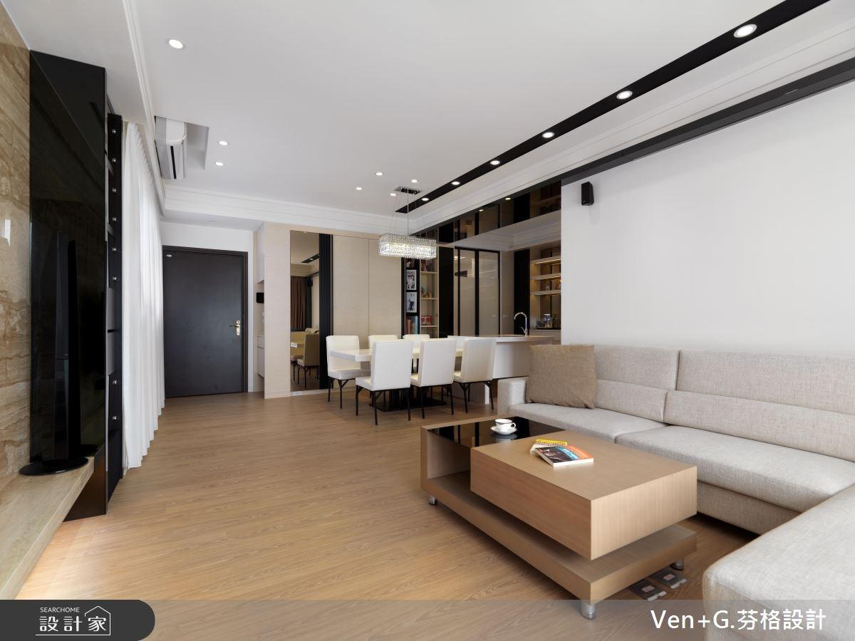 36坪新成屋(5年以下)_簡約風客廳案例圖片_芬格空間設計事務所_芬格_01之2