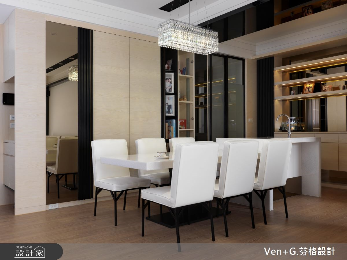 36坪新成屋(5年以下)_簡約風餐廳案例圖片_芬格空間設計事務所_芬格_01之3
