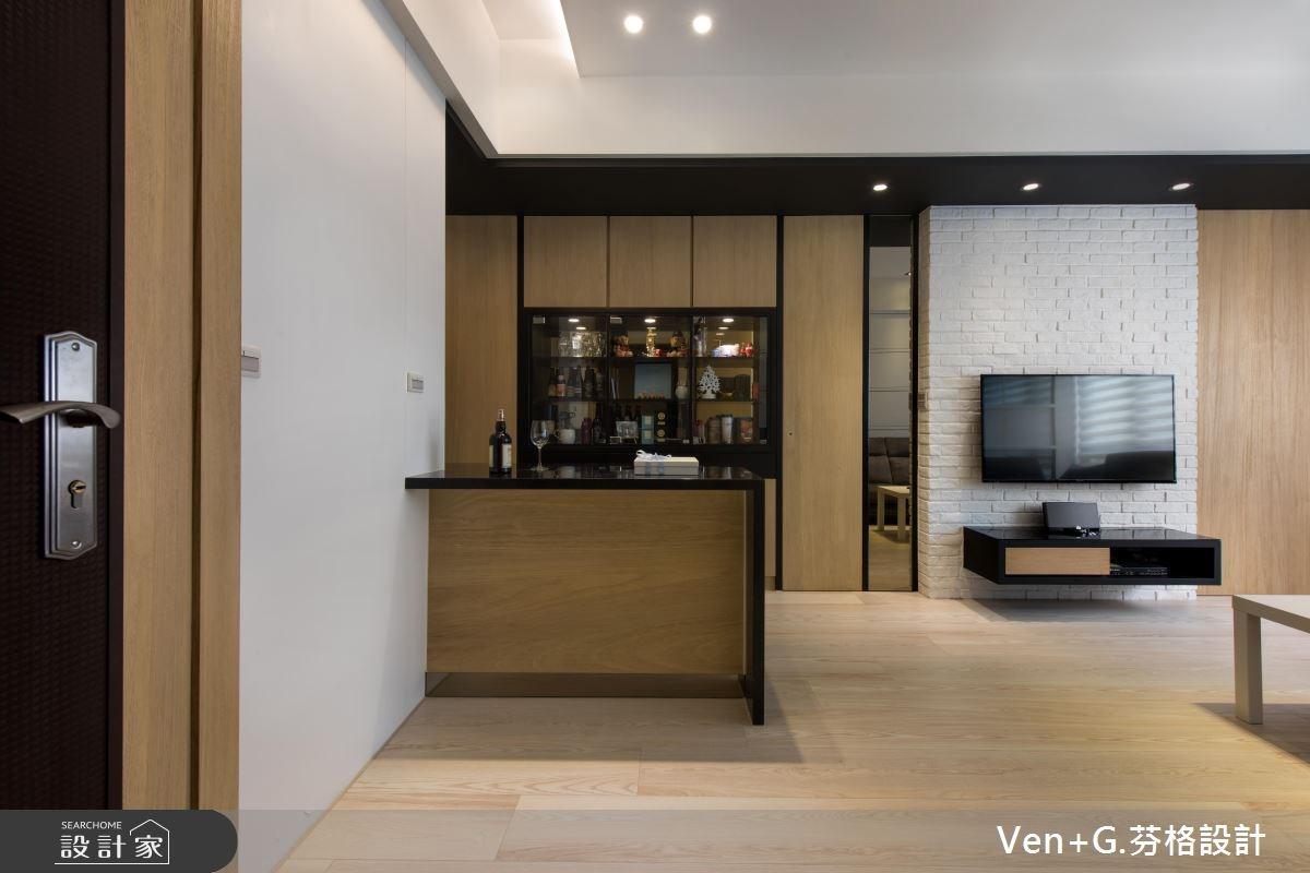 20坪新成屋(5年以下)_北歐風玄關吧檯案例圖片_芬格空間設計事務所_芬格_04之1