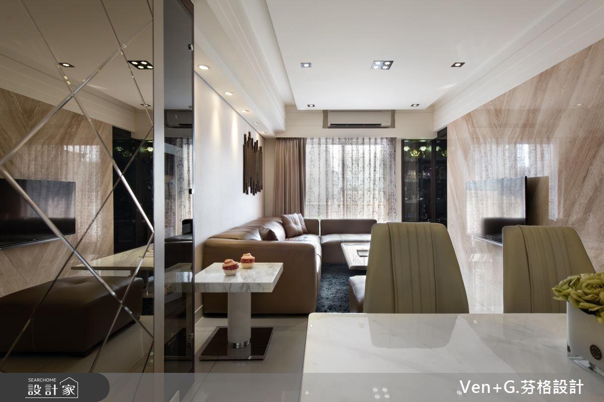 23坪新成屋(5年以下)_奢華風客廳案例圖片_芬格空間設計事務所_芬格_07之6