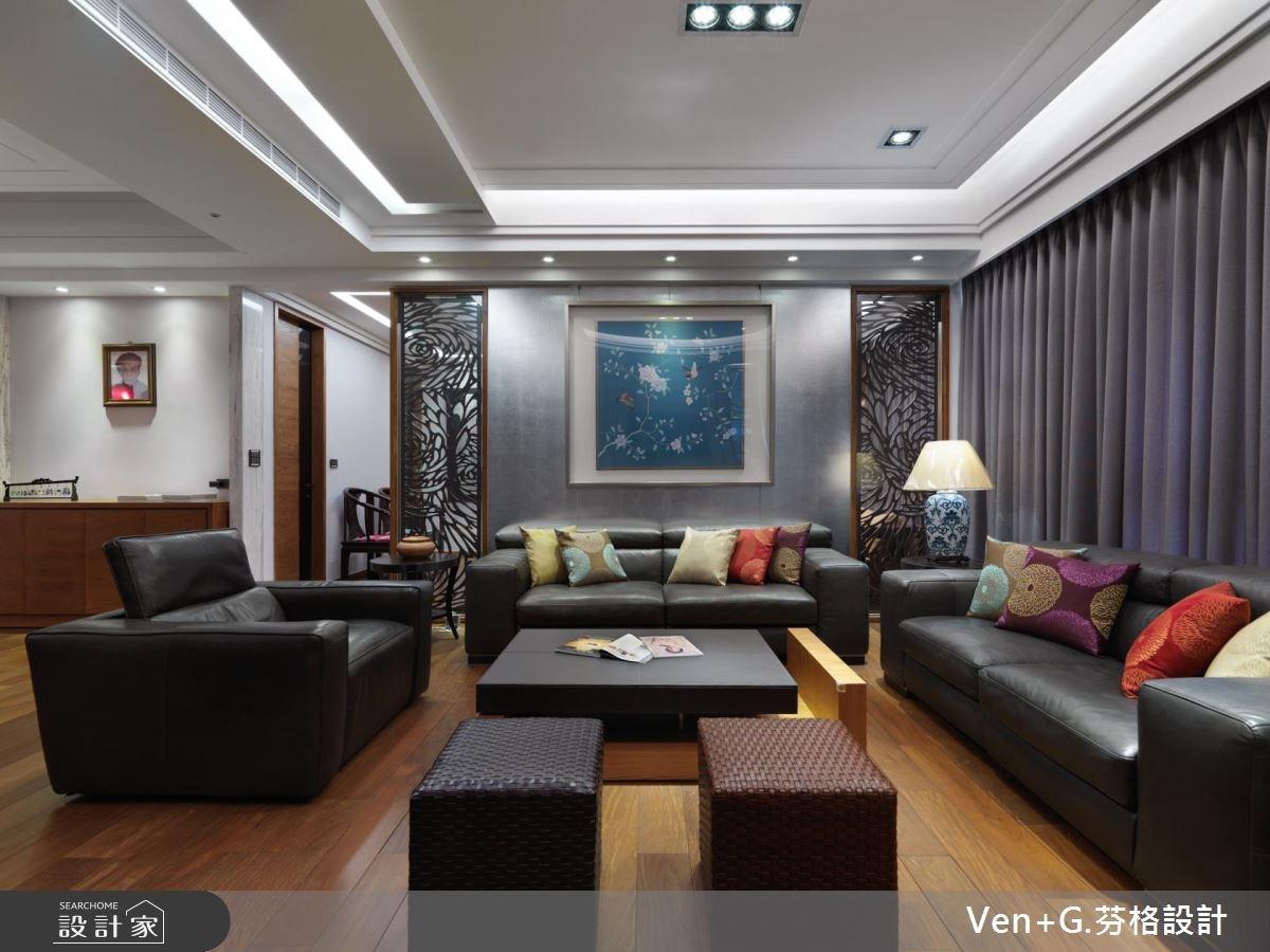 50坪新成屋(5年以下)_新中式風客廳案例圖片_芬格空間設計事務所_芬格_11之3