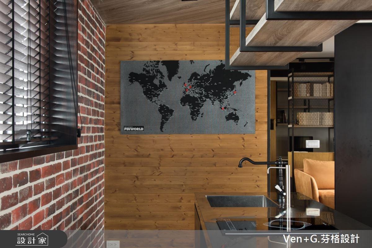 18坪老屋(16~30年)_工業風吧檯案例圖片_芬格空間設計事務所_芬格_12之11