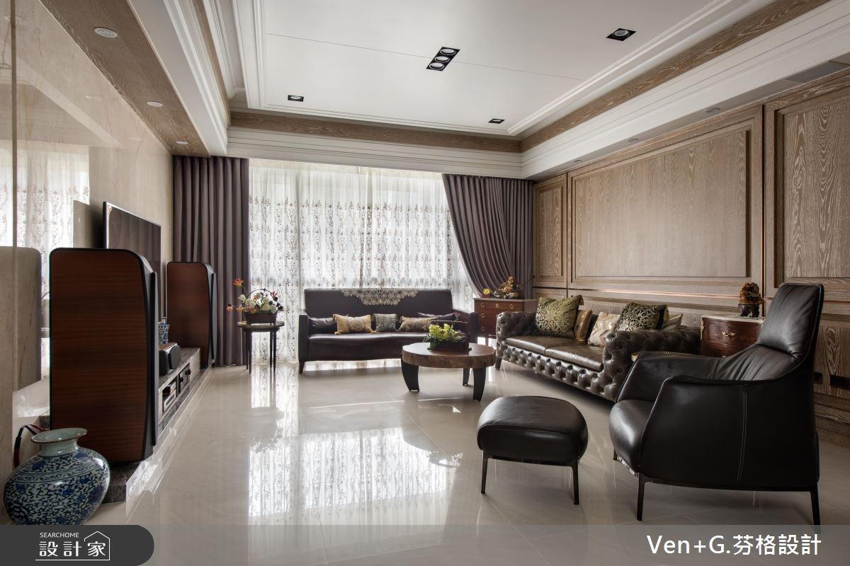 50坪新成屋(5年以下)_新古典客廳案例圖片_芬格空間設計事務所_芬格_13之1