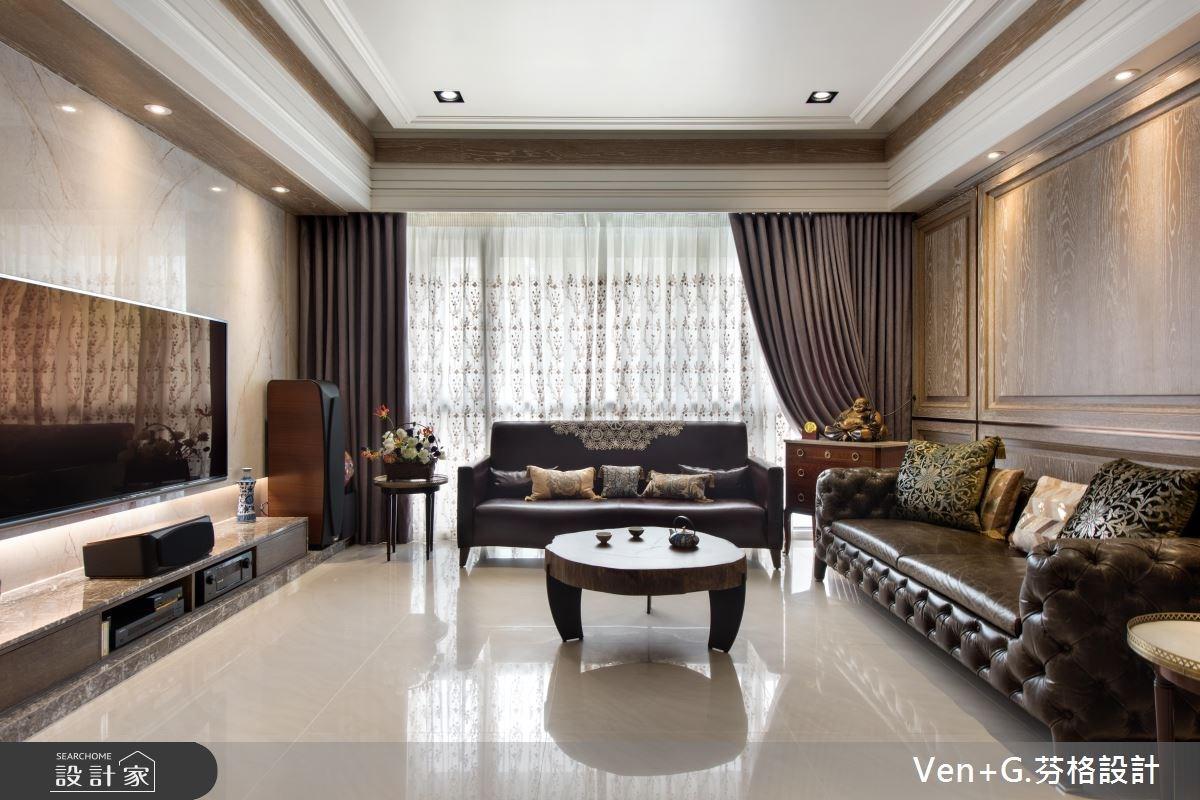 50坪新成屋(5年以下)_新古典客廳案例圖片_芬格空間設計事務所_芬格_13之2