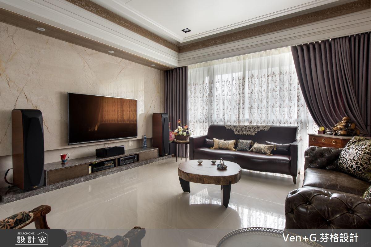 50坪新成屋(5年以下)_新古典客廳案例圖片_芬格空間設計事務所_芬格_13之3