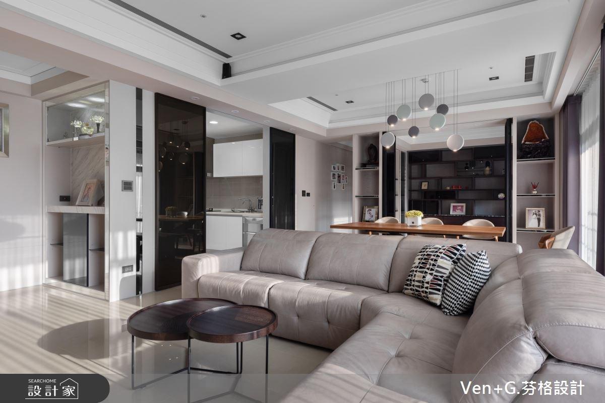 45坪新成屋(5年以下)_新古典客廳案例圖片_芬格空間設計事務所_芬格_19之3
