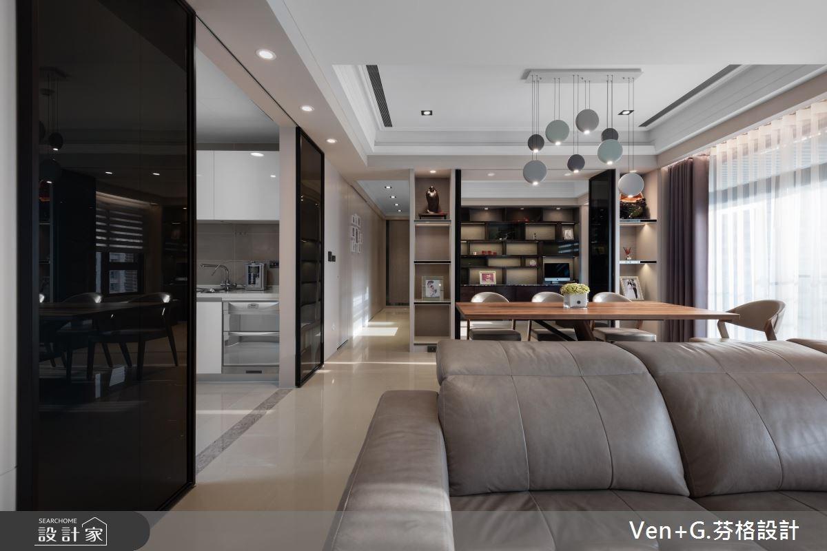 45坪新成屋(5年以下)_新古典客廳案例圖片_芬格空間設計事務所_芬格_19之4