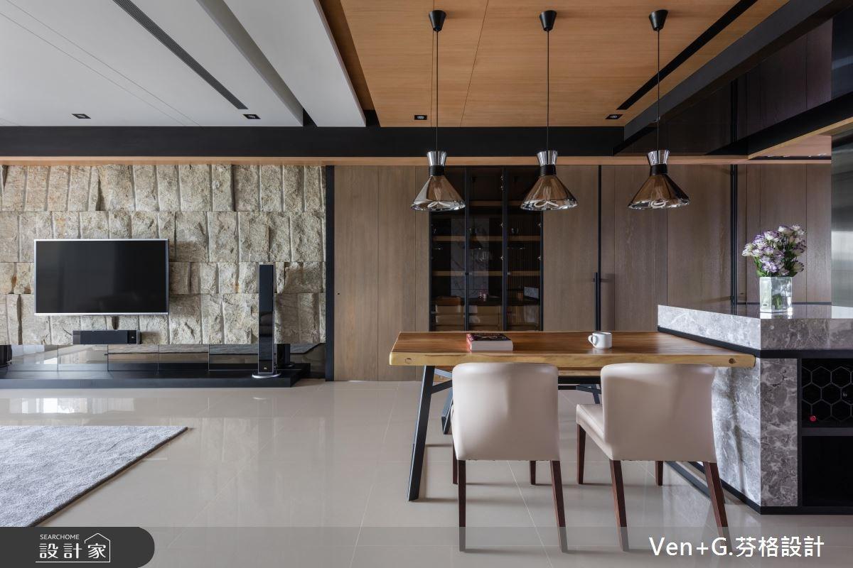 45坪新成屋(5年以下)_混搭風餐廳案例圖片_芬格空間設計事務所_芬格_20之4
